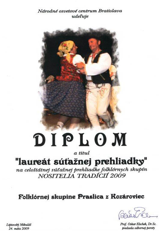 Folklórny súbor Praslica Kozárovce